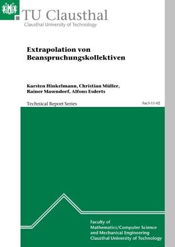 Extrapolation von Beanspruchungskollektiven - TU Clausthal