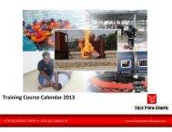 Training Course Calendar 2013 - Falck