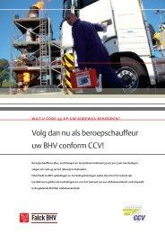 Productinformatie BHV voor beroepschauffeurs (CCV - Falck