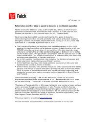 to download full press release with full graphics - Falck