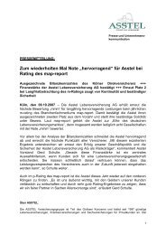 """""""hervorragend"""" für Asstel bei Rating des map-report"""