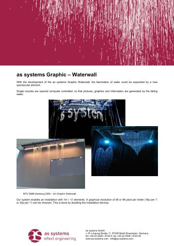 AS SYSTEMS WATERWALL 60