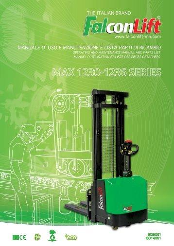manuale d' uso e manutenzione e lista parti di ricambio - Falconlift