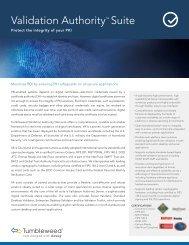 Validation Authority? Suite - Falken Secure Networks