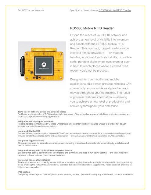 RD5000 Mobile RFID Reader - Falken Secure Networks