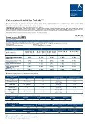 Prezzi inverno 2013/14 - Falkensteiner Hotel & Spa Carinzia