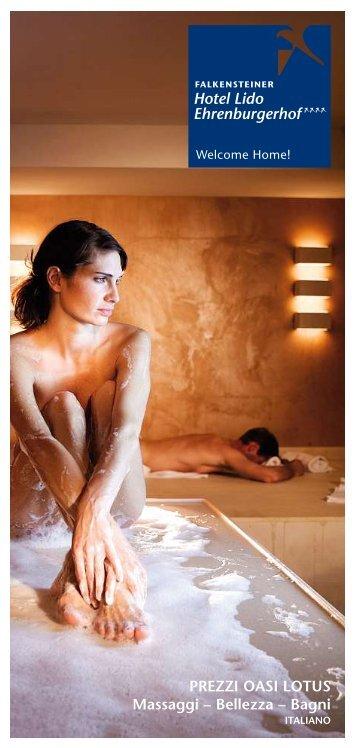 PREZZI OASI LOTUS Massaggi – Bellezza – Bagni - Falkensteiner