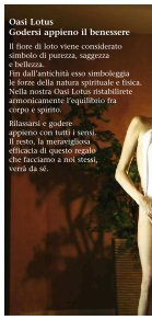 PREZZI OASI LOTUS Massaggi – Bellezza – Bagni - Falkensteiner - Page 2