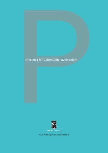 Principles for Community Involvement (PDF, 143KB) - Falkirk Council