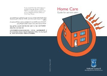 Home Care Service (PDF, 114KB) - Falkirk Council