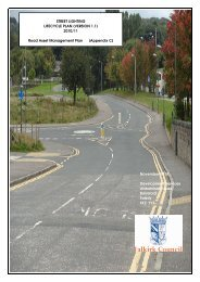 Street Lighting Lifecycle Plan 2010-2011 - Falkirk Council