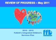 Children's Services Plan - Review of Progress May ... - Falkirk Council