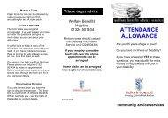 ATTENDANCE ALLOWANCE - Falkirk Council