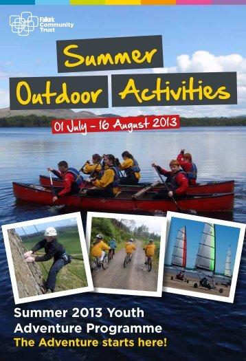 Summer Outdoor programme - Falkirk Community Trust