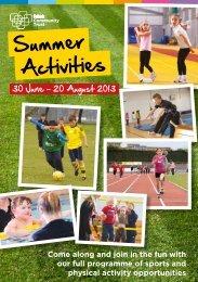 Summer Sport programme - Falkirk Community Trust