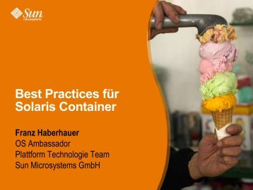 Best Practices für Solaris Container - AS-SYSTEME