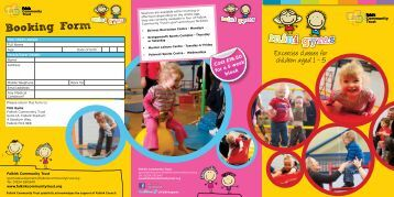 Mini Gym Booking Form - Falkirk Community Trust