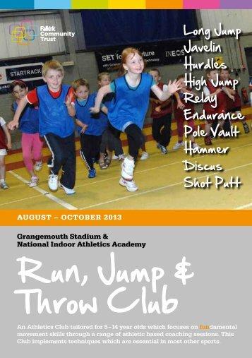 Run Jump and Throw application form - Falkirk Community Trust