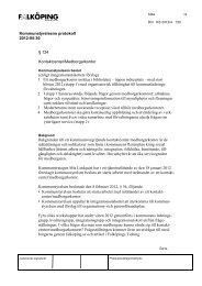 Kommunstyrelsens protokoll 120530 30 maj 2012 § 124 ...