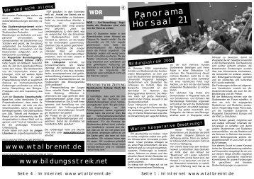 Panorama Horsaal 21 - Asta der Bergischen Universität Wuppertal ...