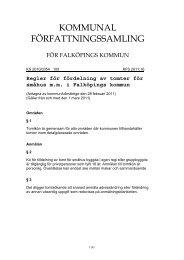 Regler för tomtkö - Falköpings kommun