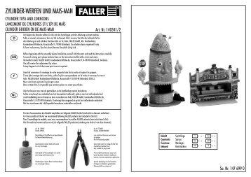 ZYLINDER-WERFEN UND MAIS-MAN - Faller