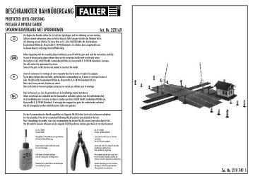 BESCHRANKTER BAHNÜBERGANG - Faller