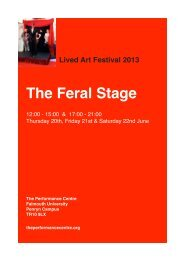 The Feral Stage - University College Falmouth