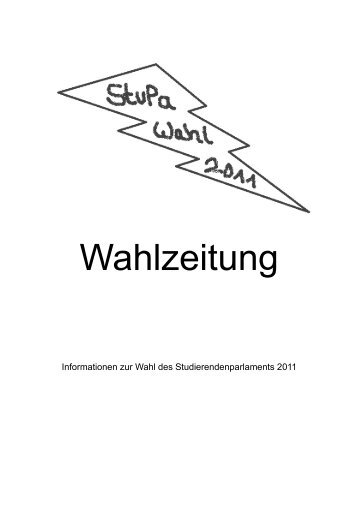 Wahlzeitung 2011 - Asta der Bergischen Universität Wuppertal ...