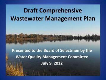 Draft Comprehensive Wastewater Management ... - Town of Falmouth
