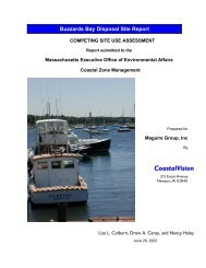 Competing Site Use Assessment - Town of Falmouth