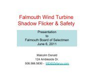 Falmouth Wind Turbine Shadow Flicker & Safety - Town of Falmouth