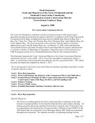 Draft Statement: Goals and Objectives of the Town of Falmouth and ...
