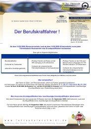 weitere Informationen - Fahrschule Schmidt