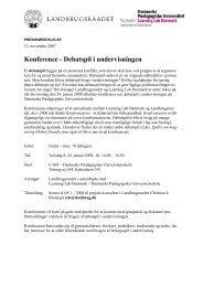 Konference - Debatspil i undervisningen - FALS