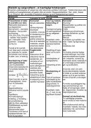 Statistik og vælgeradfærd – et tværfagligt forløb/projekt - FALS