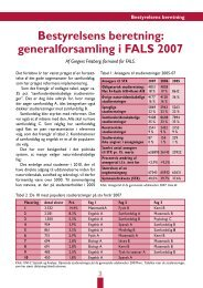 Bestyrelsens beretning: generalforsamling i FALS 2007