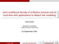 Joint conditional density of a Markov process and its local time with ...