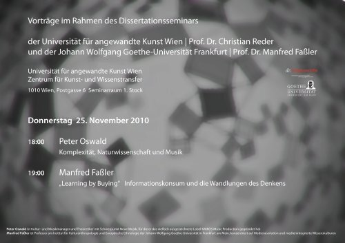 Prof. Dr. Christian Reder und der Jo - FAMe