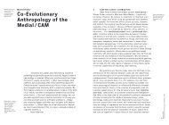 Co-Evolutionary Anthropology of the Medial / CAM - FAMe