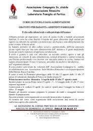 Volantino dell'iniziativa - Famiglia a Parma