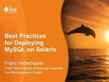 Best Practices for Deploying Mysql on Solaris - AS-SYSTEME