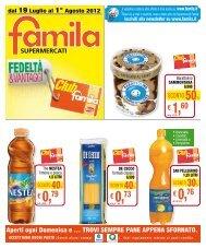 € 0,73 € 0,76 € 1,60 € 0,79 - Famila
