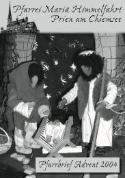 Pfarrbrief Advent 2004 - Zuhause @ Familie Ganter