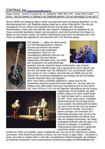 EINTRAG bei www.heinzrudolfkunze,de Eugen ... - Familie P rigge