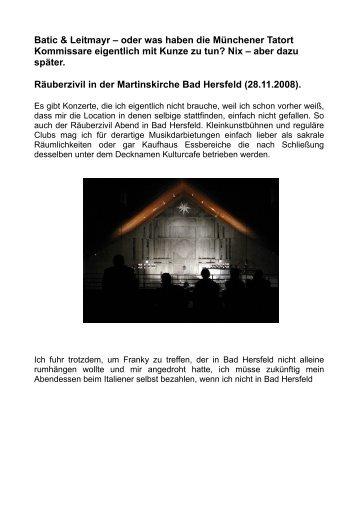 Batic & Leitmayr – oder was haben die Münchener ... - Familie P rigge