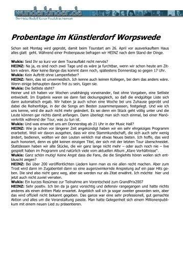 Probentage im Künstlerdorf Worpswede - Familie P rigge