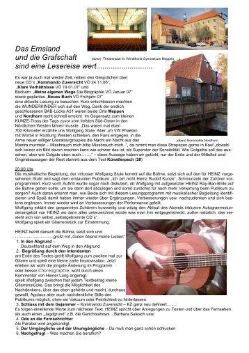 Lesung Meppen Nordhorn - Familie P rigge