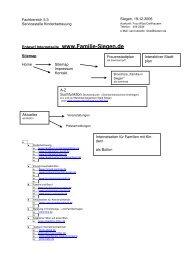 Entwurf einer Sitemap - Familie in Siegen