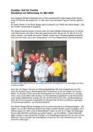 Rückblick auf Aktionstag - Familie in Siegen